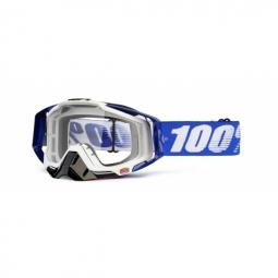 100 masque racecraft cobalt bleu blanc ecran transparent
