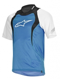 alpinestars maillot manches courtes drop bleu blanc noir