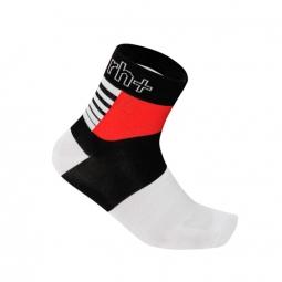 zero rh paire de chaussettes zeta 9 noir rouge blanc