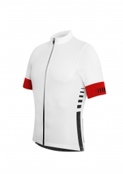 zero rh maillot manches courtes infinity fz blanc rouge