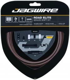 jagwire kit complet cables gaines road elite sealed derailleurs marron