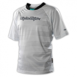troy lee design maillot skyline speed blanc