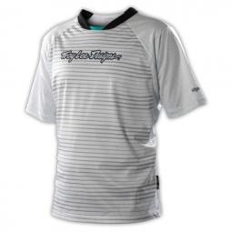 troy lee design maillot skyline speed blanc