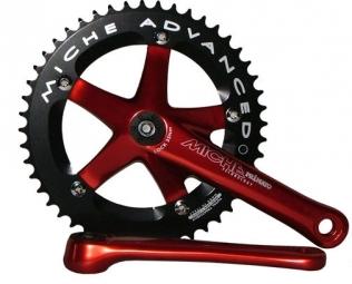 miche pedalier primato piste 165mm 46 dents rouge