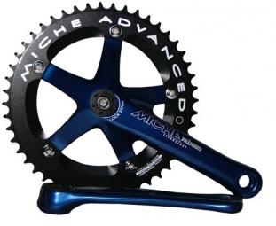 miche pedalier primato piste 165mm 46 dents bleu