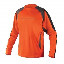 endura maillot manches longues mt500 burner ii orange