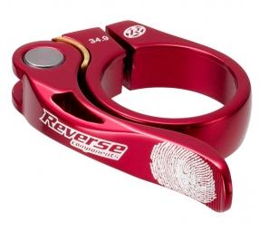 reverse collier de selle long life diametre 34 9 mm rouge