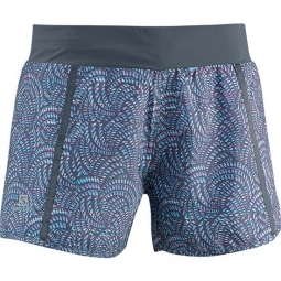 salomon short park 2in1 femme dark cloud imprime