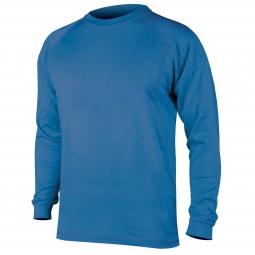 endura maillot merino manches longues bleu