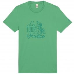 le coq sportif t shirt tour de france n 10 vert