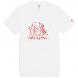 le coq sportif t shirt tour de france n 10 blanc