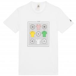 le coq sportif t shirt tour de france n 11 blanc