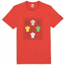 le coq sportif t shirt tour de france n 11 rouge