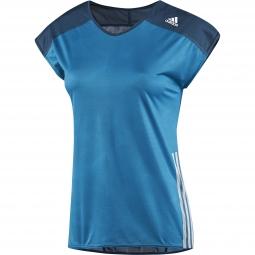 adidas t shirt adizero femme bleu