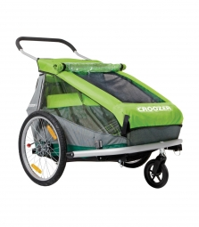 remorque enfant bi place croozer kid for 2 vert