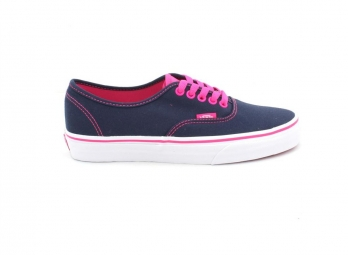 vans paire de chaussures u authentic pop marine rose