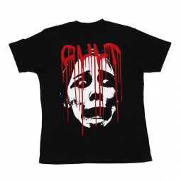 cult tee shirt face drip noir