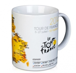 tour de france mug ceramique blanc