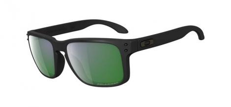 oakley lunettes holbrook noir vert iridium polarise ref oo9102 50