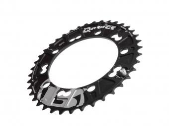 plateau vtt rotor qx2 oval double 110x5mm bcd noir