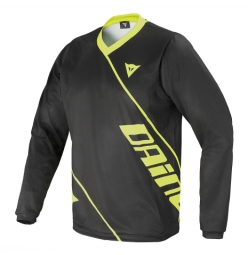 dainese maillot manches longues basanite noir jaune