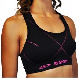 bv sport brassiere femina sport noir violet
