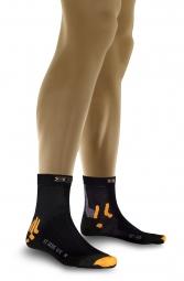 x socks paire de chaussettes bike street wr noir