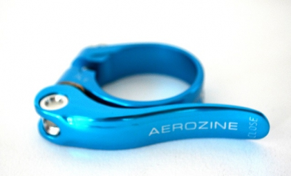 aerozine collier de selle a serrage rapide bleu