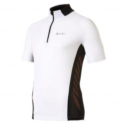odlo maillot manches courtes action col zip 1 2 blanc noir
