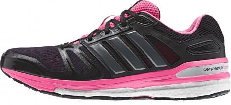 adidas supernova sequence boost noir rose femme