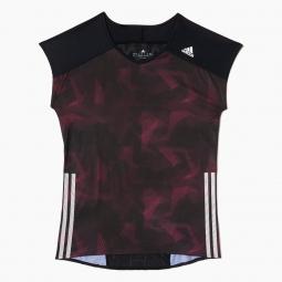 adidas t shirt adizero femme noir violet