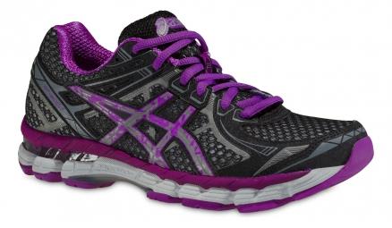 asics chaussures gt 2000 2 lite show noir violet femme