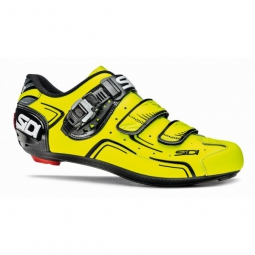 chaussures route sidi level noir jaune fluo