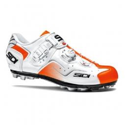chaussures vtt sidi cape blanc orange fluo