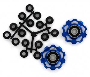 sb3 galets de derailleur anodises pour shimano ou sram bleu x 2 10 dts