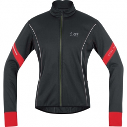 gore bike wear veste power 2 0 windstopper soft shell noir rouge