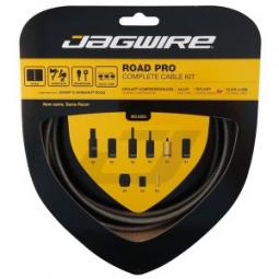 jagwire kit complet cables gaines road pro freins derailleurs carbon silver