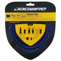 jagwire kit complet cables gaines road pro freins derailleurs bleu sid