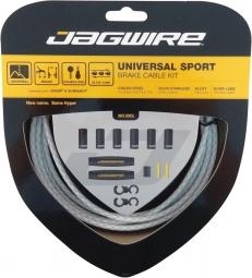 jagwire kit cables et gaines pour derailleurs universal sport shift blanc tresse