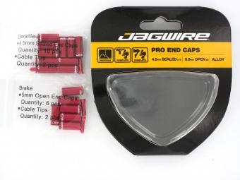jagwire kit embout de cable et gaine de frein derailleur rouge