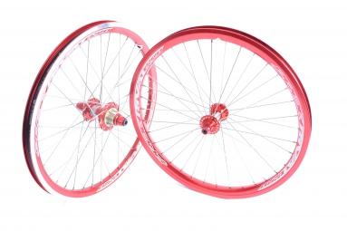 pride paire de roues rival pro rouge