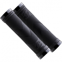 race face paire de grips sniper lock on noir