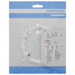 shimano plateau deore 32 dents entraxe 104 4 branches fc m510 9v argent