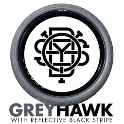 odyssey pneu chase hawk grey hawk reflective black gris