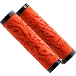 race face paire de grips strafe lock on orange