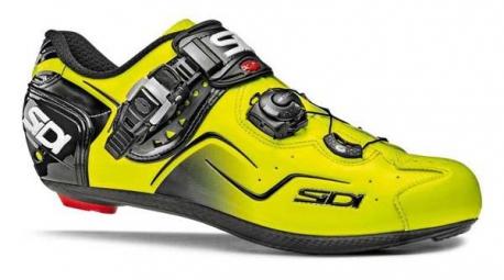 chaussures route sidi kaos sidi noir jaune fluo
