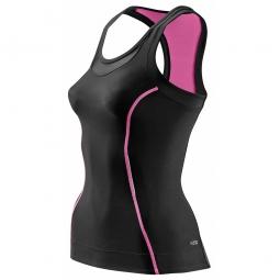 skins maillot compressif sans manches femme a200 noir rose