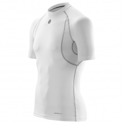 maillot thermique skins carbonyte homme blanc