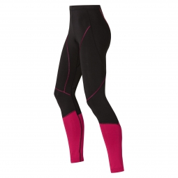 odlo collant long femme fury light noir rose