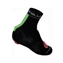castelli couvres chaussures chaussettes belgian booties noir fluo